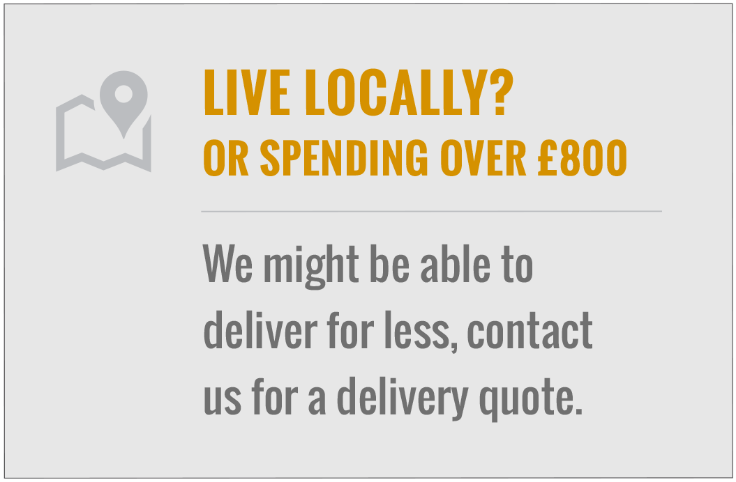 If you live within the radious of essex or London we might be able to deliver for less